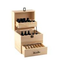 Aroma Kit including 42 x oils and 6 x carriers + Wooden Storage Carry Case